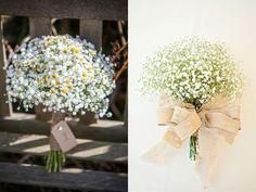 Maneiras de usar a flor mosquitinho no buquê de casamento | Casar.com