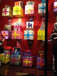 store christmas tree display window ideas images | The store windows were simple but dynamic…