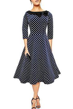 Black Butterfly 'Iris' 50's Polka Dot Collared Dress (Midnight Blue - White Dots, US 4) Black Butterfly Clothing http://www.amazon.com/dp/B00S55LBHS/ref=cm_sw_r_pi_dp_FrTRwb10K1V8Z