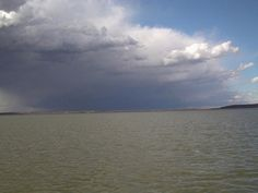 Storms coming in on Lake Texoma and they can come up fast!!