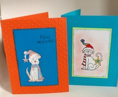 Cute pet Christmas cards - pick a dog or a cat
