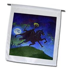 fl_36405_1 Sandy Mertens Vintage Halloween Designs - Headless Horseman Cartoon (Textured) - Flags - 12 x 18 inch Garden Flag 3dRose http://www.amazon.com/dp/B00BR6L974/ref=cm_sw_r_pi_dp_i64pub0EHXC1Z