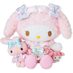 My Melody Deluxe Plush Doll DX All Dressed Up SANRIO JAPAN ($599) ❤ liked on Polyvore featuring fillers