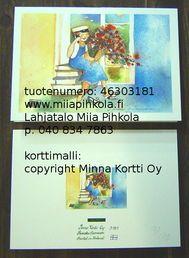 Minna Immonen graduation card: girl / Minna Immosen ylioppuilaskortti: tyttö