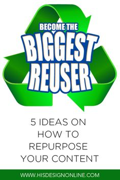 Five ideas on how you can repurpose your existing content to make your social media efforts stand out. | #blogging #contentmarketing #repurpose #socialmedia #socialmediatips