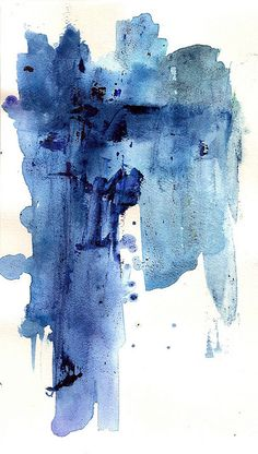watercolor by jose f. sosa - blue is the colour of a state of mind...