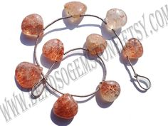 Tanzanian Sunstone Smooth Heart (Quality A) / 12.5 to 15 mm / 12 to 14 Grms / 18 cm / SUNS-009 by GemstoneWholesaler on Etsy