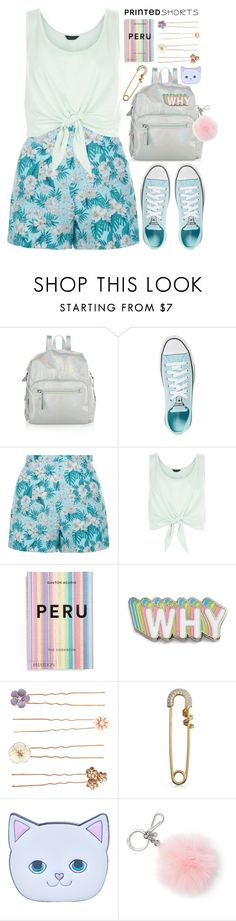 """""""Simple Short Story"""" by alaria ❤ liked on Polyvore featuring Accessorize, Converse, New Look, PHAIDON, Big Bud Press, Bling Jewelry, Local Heroes, MICHAEL Michael Kors and printedshorts"""