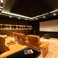 Фото интерьера домашнего кинотеатра дома в стиле ар-деко