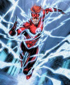 Justice League Comics, Dc Comics Superheroes, Dc Comics Art, Wallace West, Foto Flash, Flash Comics, Flash Wallpaper, Kid Flash, West Art