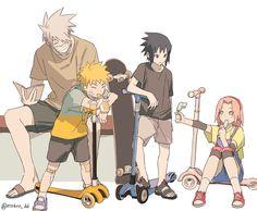 Team Minato, Naruto Team 7, Naruto And Hinata, Naruto Shippuden Anime, Naruto Art, Anime Naruto, Sasunaru, Sasuke Uchiha Sakura Haruno, Kakashi Hatake