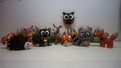 ♥♥♥ Animais da floresta... by sweetfelt \ ideias em feltro, via Flickr