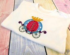 Princess carriage Applique Machine Embroidery Design. Carriage