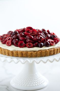 Cherry Cheesecake Cookie Tart
