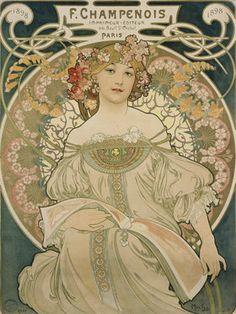 Alfons Mucha: Plakat für F. Champenois. 1897