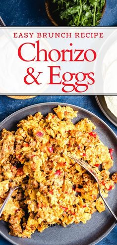 and Eggs Easy breakfast brunch or anytime recipe. Chorizo and eggs is a simple and quick recipe with only 4 main ingredients.Easy breakfast brunch or anytime recipe. Chorizo and eggs is a simple and quick recipe with only 4 main ingredients. Easy Brunch Recipes, Mexican Breakfast Recipes, Breakfast Dishes, Breakfast Casserole, Quick Recipes, Quick Easy Meals, Mexican Food Recipes, Cooking Recipes, Healthy Recipes