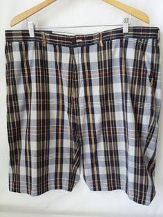 Ralph Lauren Shorts Size 40 Mens Defining Elegance Plaid Blues Cotton #RalphLauren #CasualShorts