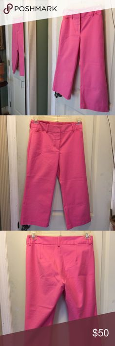 Hot pink Lily Pulitzer Capris 🎉SALE 🎉 Hot pink Capris by Lily Pulitzer in size 8  runs small   96% cotton and 4 % spandex  made in China   Dry clean  NWOT Lily Pulitzer Pants Capris