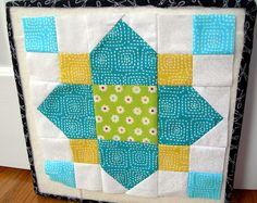 Susie's Sunroom: August Blocks - ModernQAL Quatrefoil block #patchwork #quilting