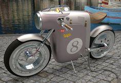 This electric bike is inspired in the Ossa monocasco bike of Santiago Herrero. Designed by Art-Tic.
