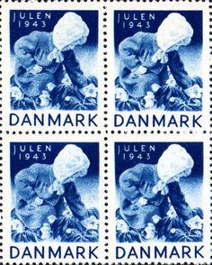 Danish Christmas seal 1943