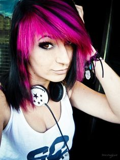 To tell y'all the truth I like this hair even though its pink and I don't know why but oh well :)