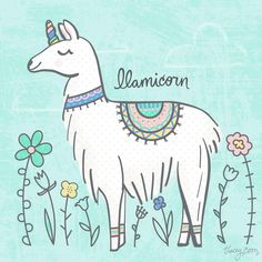 Llamicorn Copyright 2017 Tracey Coon | Noonday Design | www.noondaydesign.com