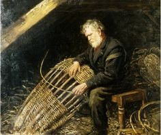 John McGhie making a scull Old Baskets, Vintage Baskets, Willow Weaving, Basket Weaving, Basket Bag, Contemporary Photography, People Photography, Story Inspiration, Pose Reference