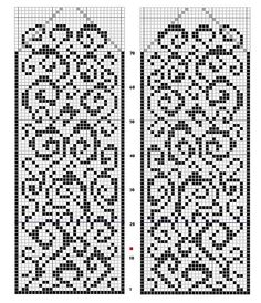 Chart would be beautiful with variegated background yarn Knitted Mittens Pattern, Fair Isle Knitting Patterns, Fair Isle Pattern, Bead Loom Patterns, Knit Mittens, Knitting Charts, Knitting Stitches, Beading Patterns, Cross Stitch Bookmarks