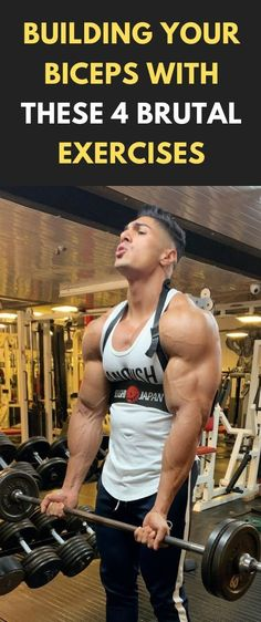 Bodybuilding Building Your Biceps With These 4 Brutal Exercises Biceps Workout, Workout Exercises, Fun Workouts, At Home Workouts, Fitness Exercises, Arm Exercises, Daily Workouts, Body Workouts, Workout Fitness