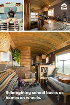 These customized living spaces give new meaning to 'mobile homes'.