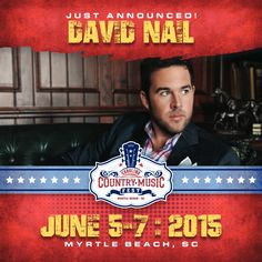 Catch David Nail at CCMF Sunday June 7! Tickets On Sale Now