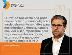 """Em entrevista à Renascença, o vice-presidente do PSD desafiou o PS a deixar muito claro, """"antes da apresentação do programa de um Governo legítimo que se preparam para derrubar"""", quais são os termos do acordo que estão a negociar com o PCP e o Bloco de Esquerda. #acimadetudoportugal"""