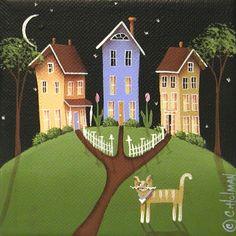 Image detail for -Hilltop Lane Painting by Catherine Holman - Hilltop Lane Fine Art ...