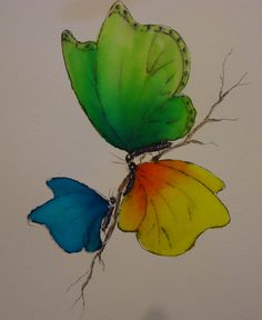 watercolor tattoo design...represent family in different color