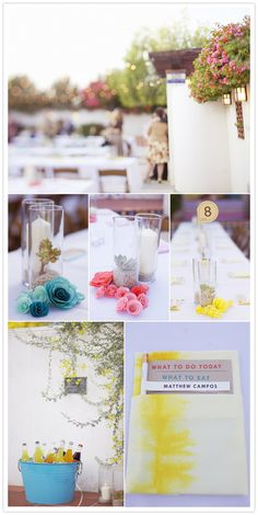 loving the theme of this South Western wedding.