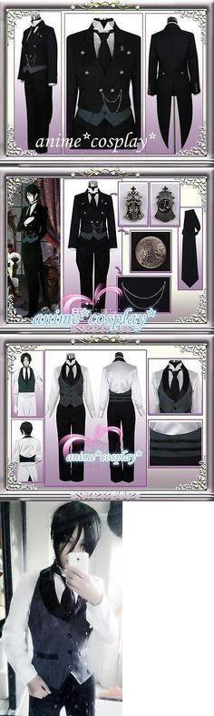 Unisex 86207: Black Butler 2 Kuroshitsuji Sebastian Michaelis Cosplay Costume Unisex Uniform -> BUY IT NOW ONLY: $55.08 on eBay!