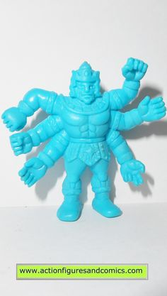 Mattel toys vintage action figures for sale to buy M.U.S.C.L.E. Men / Kinnikuman Ultimate Wrestlers 1985 - 1986 figure #070 ASHURAMAN B (light blue color) condition: overall excellent - no damage, no