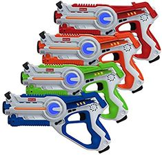 Amazon.com: Kidzlane Laser Tag – Laser Tag Guns Set of 4 – Multi Function Lazer Tag Guns for Kids 4 Players – Indoor, Backyard, Outdoor Game for Kids, Adults, and Family: Toys & Games
