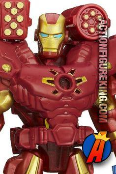 Electronic Iron Man 6-Inch Marvel Super Hero Mashers from Hasbro. #marvelsuperheromashers #ironman #actionfigures