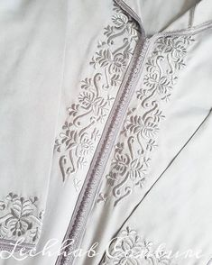 Embroidery On Kurtis, Couture Embroidery, Embroidery Dress, Embroidery Designs, Mens Kurta Designs, Abaya Designs, Sleeves Designs For Dresses, Sleeve Designs, Caftan Gallery