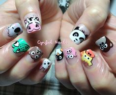 Animal nails! My favorites are the moo, panda and crocodile.. Which are yours?