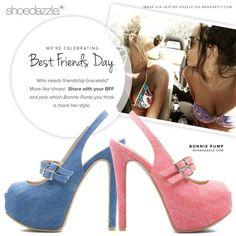 Yes please! Best Friend Day, Best Friends, Partners In Crime, Shoe Dazzle, Pumps, Heels, Cute Shoes, Her Style, Friendship Bracelets