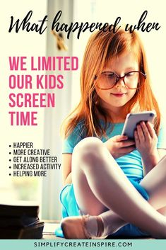 Discover the benefits of limiting screen time & how it made our kids happier, more well behaved & creativity. Tips on reducing screen time & tech-free days. Parenting Articles, Kids And Parenting, Parenting Hacks, Screen Time For Kids, Fairy Tales For Kids, Throw In The Towel, Making Life Easier, Free Day, Creative Activities