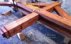 Montaje de cercha de madera laminada encolada. navarrolivier.com