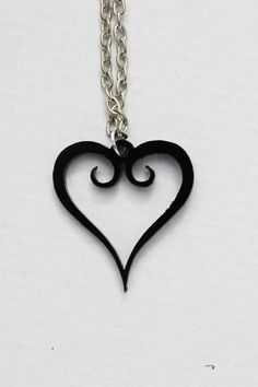 Kingdom Heart necklace by TheGeekStudio on Etsy, $8.50