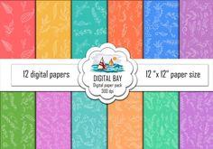 Digital paper pack  Instant download  Scrapbook by DigitalBay
