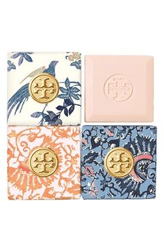 These little soaps make such a great gift too! Tory Burch Bath Soap Set available at #Nordstrom