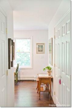 laundry closet at the Blue Cottage. Dagmar's Home DagmarBleasdale.com #laundrycloset #laundryroom #interiordesign #cottage