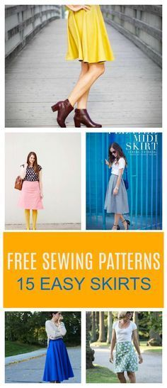 FREE SEWING PATTERN ALERT: 15 Easy sewing skirt patterns available in our blog.  Get your free printable sewing pattern and / or sewing tutorial on how to make this easy sewing projects for beginners.